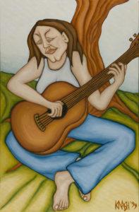 Guitar Girl RGB
