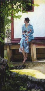 Kirsten Nash Bluebird 24 x 48 acrylic on canvas LT